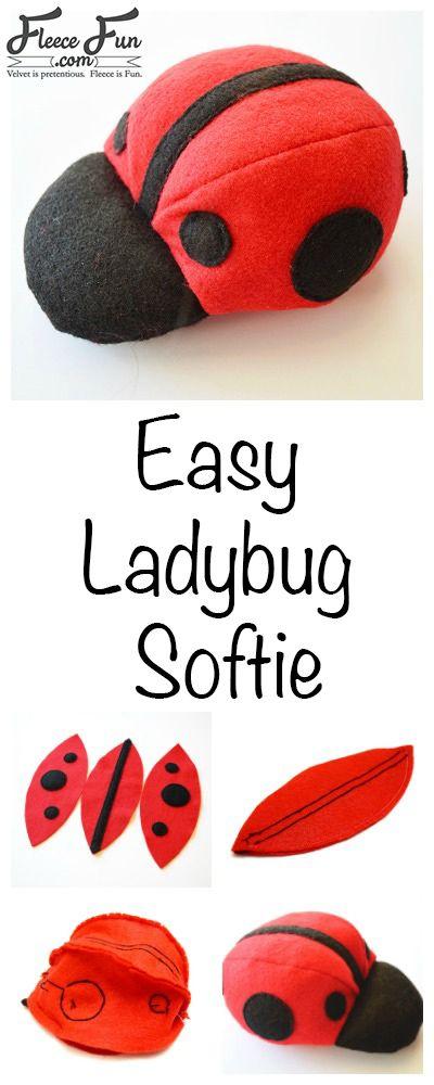 How to make a Ladybug Softie | Pinterest | Kuscheltiere ...