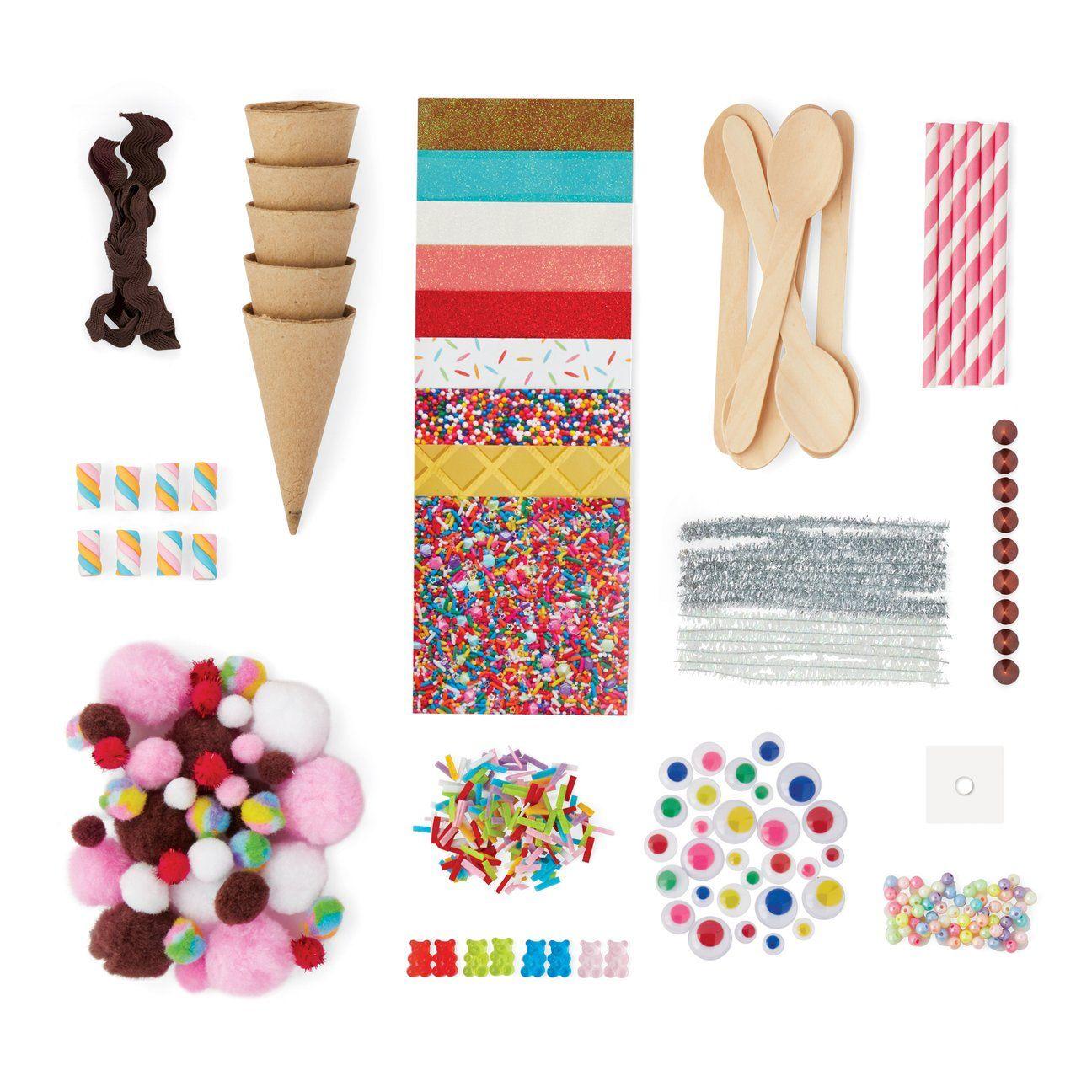 Kid Made Modern Ice Cream Craft Kit Craft Supplies For Kids Ages 6 And Up Walmart Com Walmart Com Craft Kits For Kids Ice Cream Crafts Craft Kits