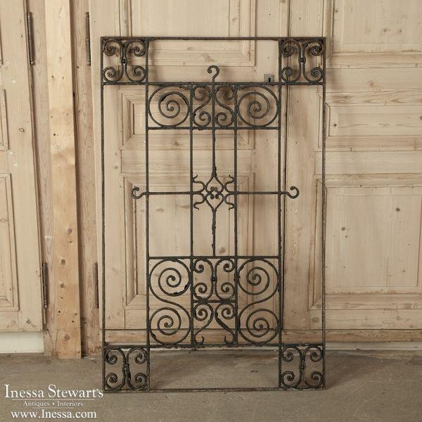 Antique Iron/Gates | Antique Wrought Iron Panel | www.inessa.com - Antique Iron/Gates Antique Wrought Iron Panel Www.inessa.com