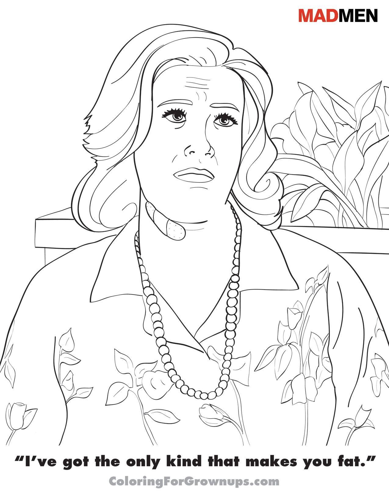 Madmen Coloring Page  (Coloringforgrownups.com)