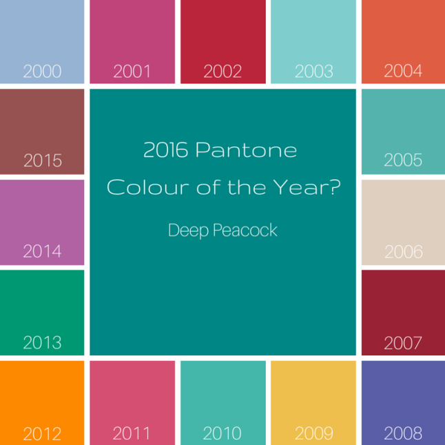 Pantone 2016: 2016 Colours Of The Year