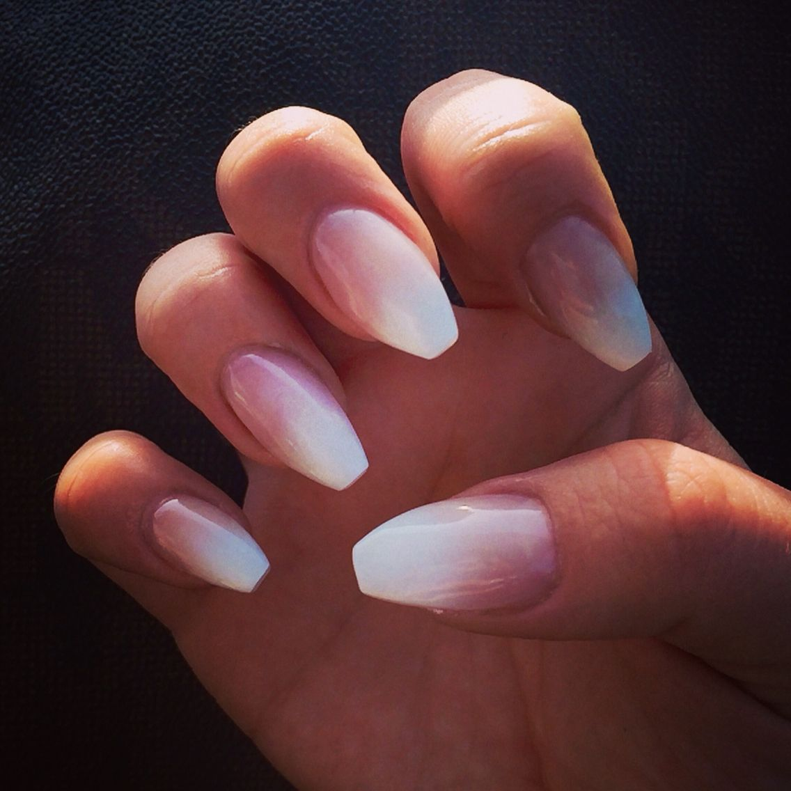 French ombré coffin nails | Nails | Pinterest | Coffin nails, Nail ...
