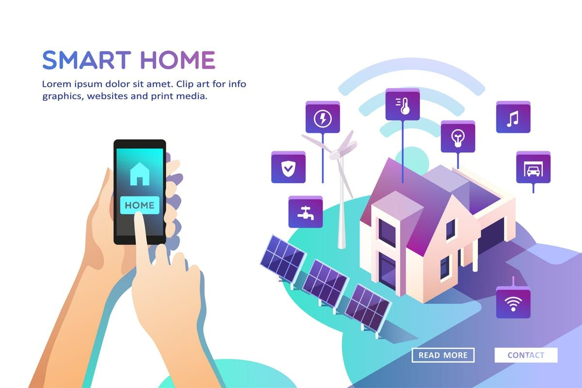 Ad Smart Home Concept Graphics Smart Home Concept Of House