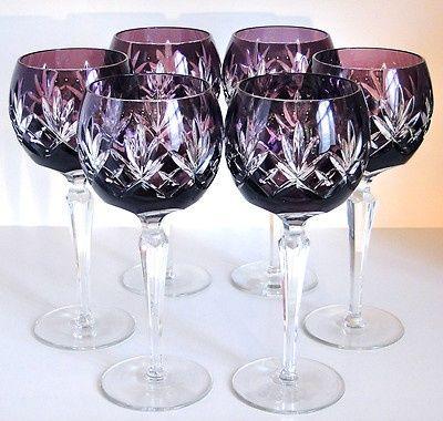 b345fe0243a Purple Crystal Wine Glasses