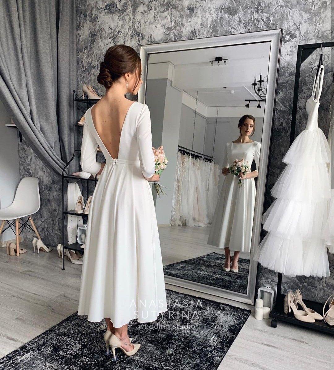 Plate Wedding Dresses Simple Short Wedding Dress Civil Wedding Dresses [ 1195 x 1080 Pixel ]