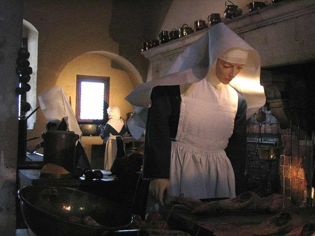 Cozinha do Hôtel-Dieu de Beaune. O Hospital de Jerusalém