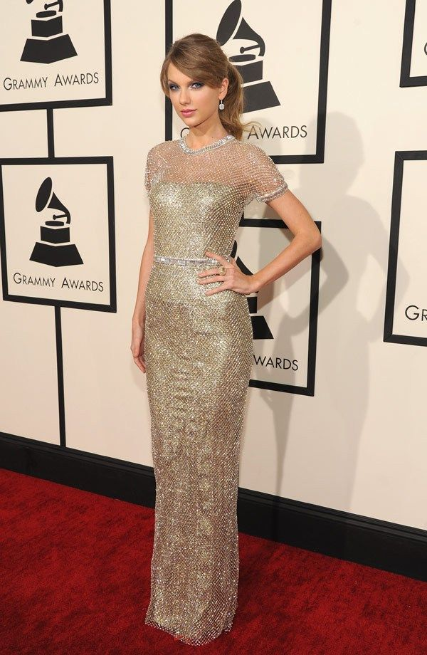 Gold lamé Gucci Première gown worn by Taylor Swift   Love ❤ Style ...