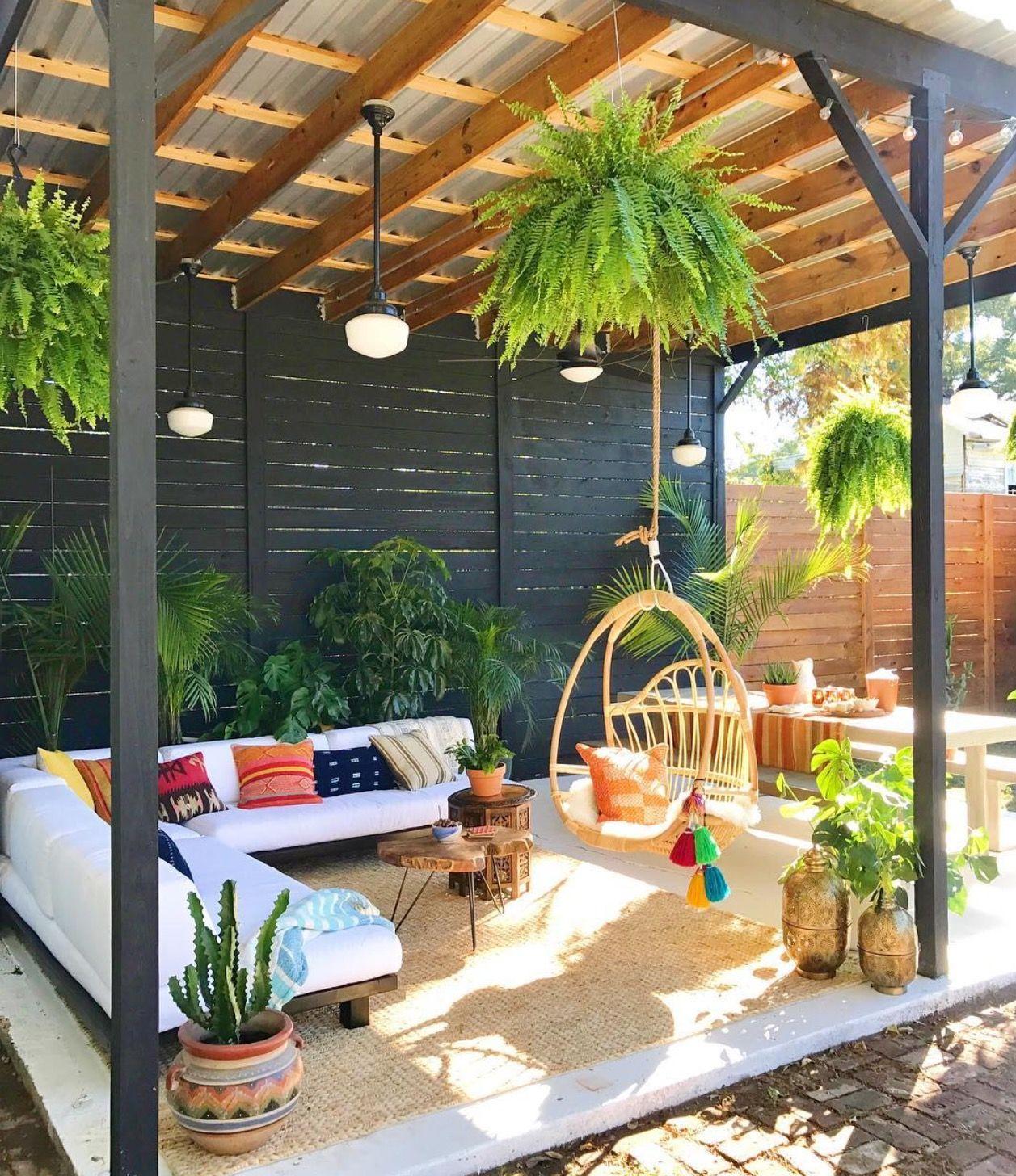 Outdoor platform couch Outdoor patio, Backyard, Patio