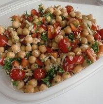 Making this for the weekend bbq time :) Chickpea Salad with Fresh Herb Vinaigrette