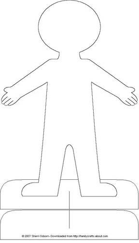 Paper Doll Accessories Body template, Paper doll template and - flat stanley template