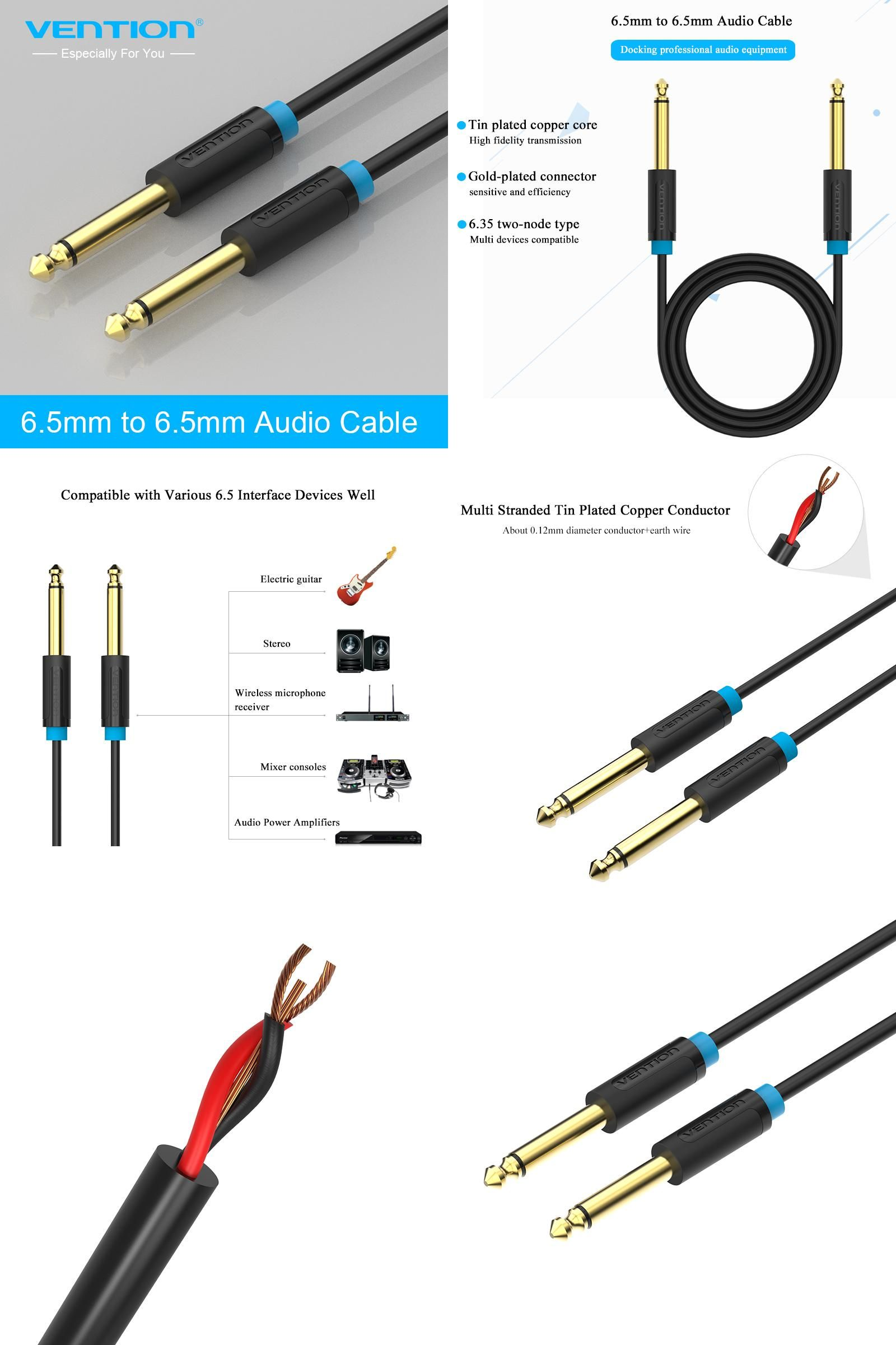 Visit To Buy Vention Guitar Cable Jack 65 Mm Audio Wiring