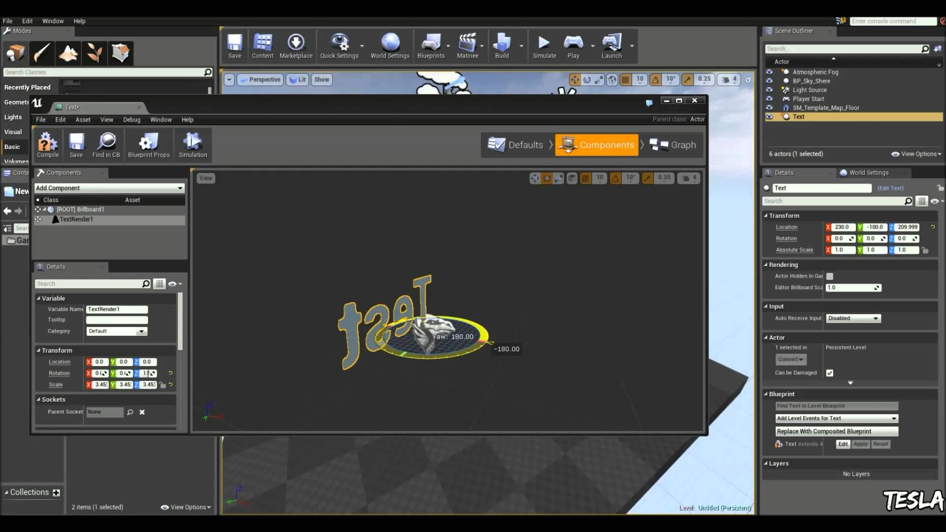 Unreal engine 4 tutorial text face player unreal tournament 3d unreal engine 4 tutorial text face player malvernweather Gallery