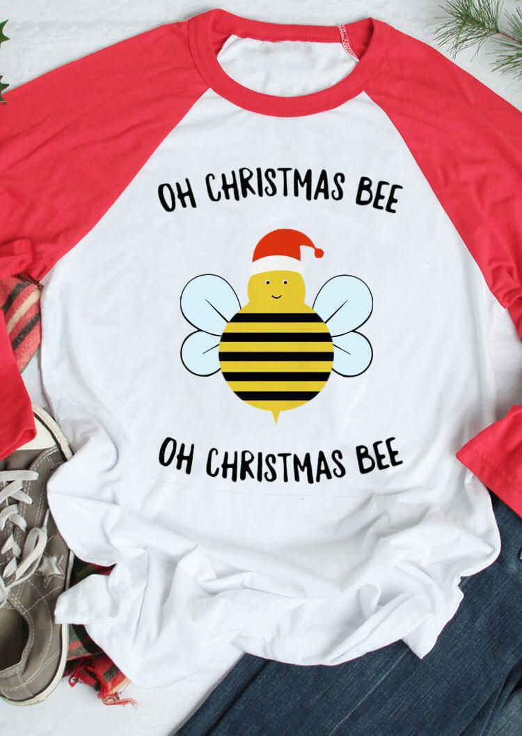 Oh Christmas Bee T-Shirt Tee - White in 2020 | Tee shirts, Home t shirts, Movie t shirts