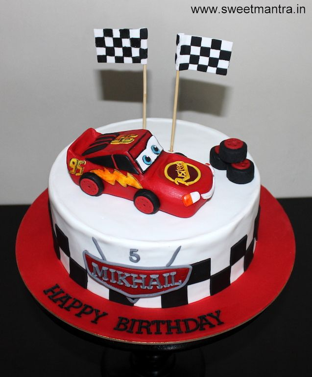 Brilliant Disney Pixar Cars Lightning Mcqueen Theme Customized Designer Funny Birthday Cards Online Fluifree Goldxyz