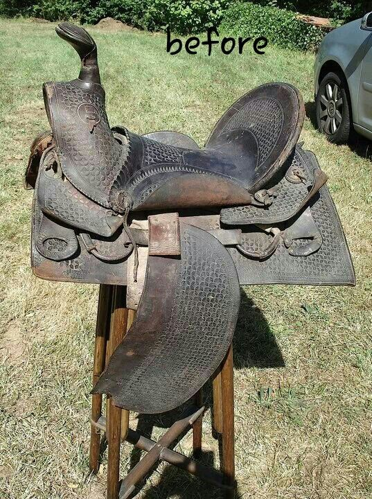 Saddle before restoration