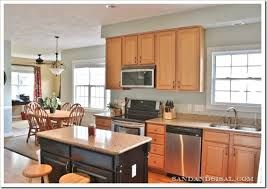 Kitchen Colors That Go With Golden Maple Cabinets Google Search Grey Kitchen Walls Honey Oak Cabinets Kitchen Wall Colors