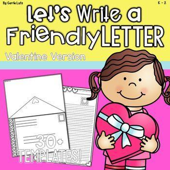 Friendly Letter Templates Valentine Version  Friendly letter