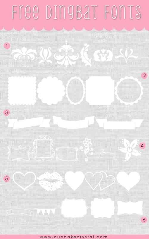 Favorite Free Dingbats | CUPCAKE CRYSTALCUPCAKE CRYSTAL #free kit