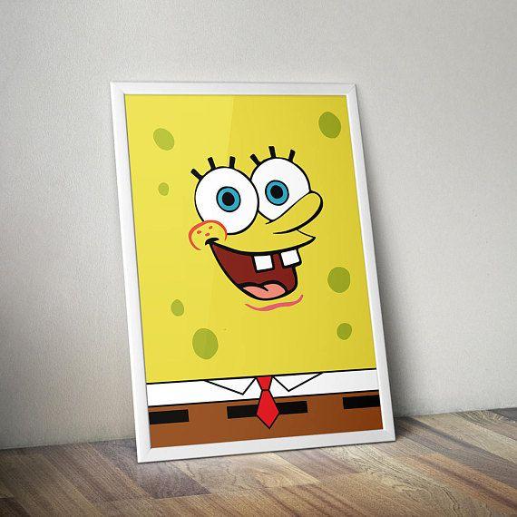 Spongebob Inspired Poster Print | A2 Size | Printable | Digital ...