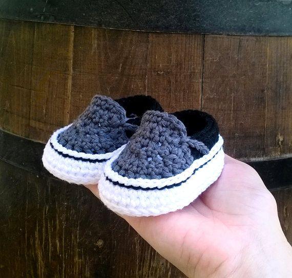PATRON Zapatillas crochet estilo Vans . por ShowroomCrochet en Etsy ...