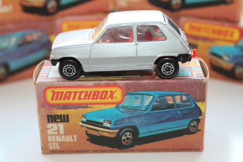 Matchbox Superfast Renault 5 TL Boxed in Mint condition - silver with red inner | eBay