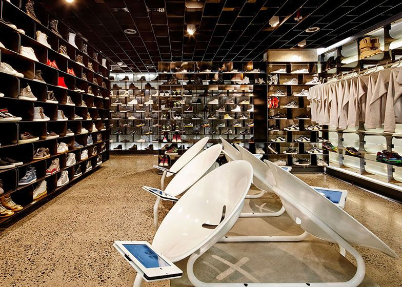 Sneaker Store In Melbourne By March Studio Features Tunnel Interior