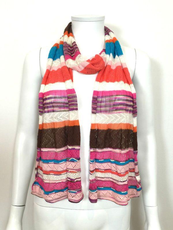 Missoni Signature Crochet Knit Scarf / Multi / RRP: £200.00