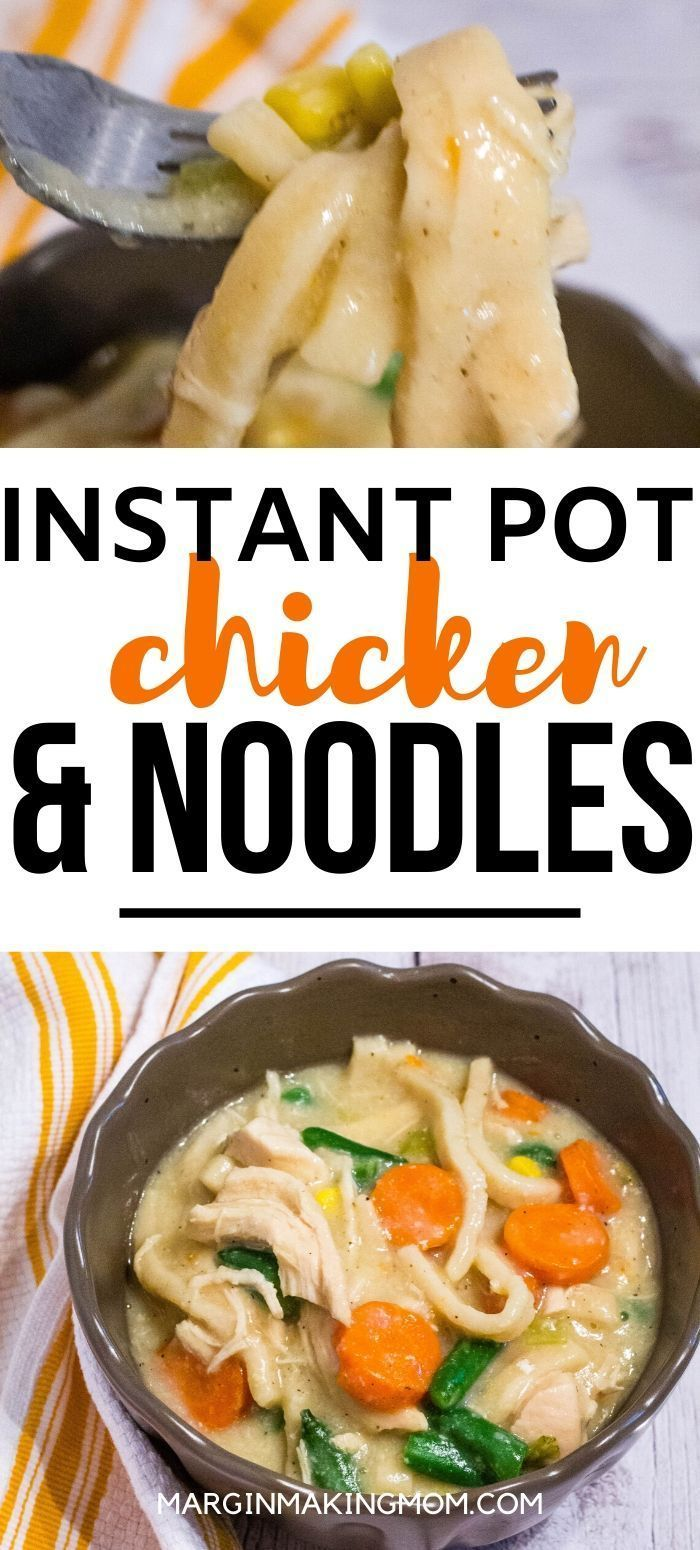 instant pot chicken and dumplings with noodles  recipe