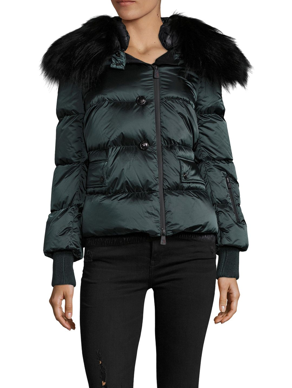 0131529e7 Moncler Rumier Fur Trim Hood Puffer Jacket | Women Shopping ...