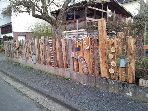 Das ist mal eine ausgefallene Idee für einen Zaun