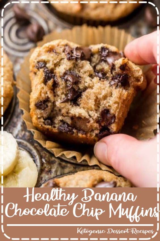 Healthy Banana Chocolate Chip Muffins Healthy Banana Chocolate Chip Muffins! Super moist and made with healthy ingredients!