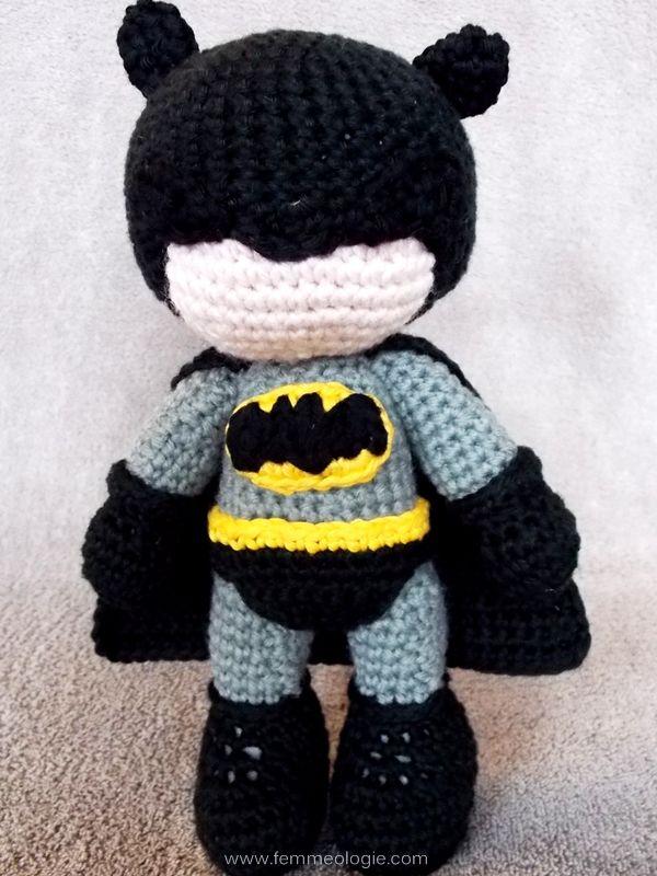 Diy Gehäkelter Batman Vorderseite Anleitungen Pinterest