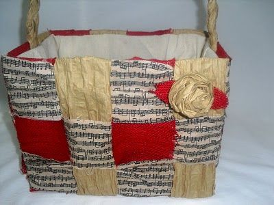 Cute Bag Made Of Brown Paper Grocery Bags And Strips Of