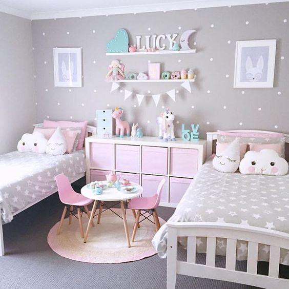 Idée de chambre partagée pour les enfants | Déco chambre | Chambre ...