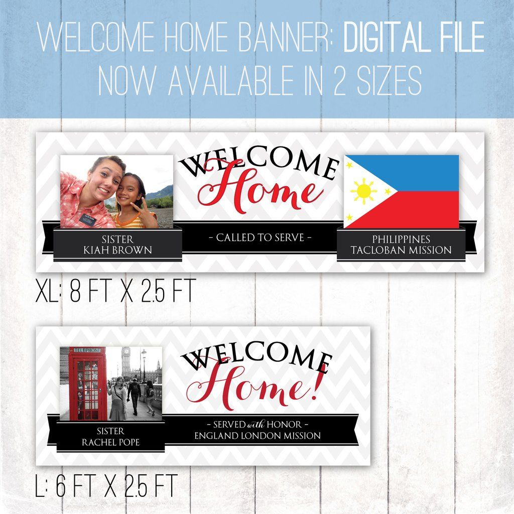 Giant Missionary Welcome Home Banner Horizontal Ribbon Design ...