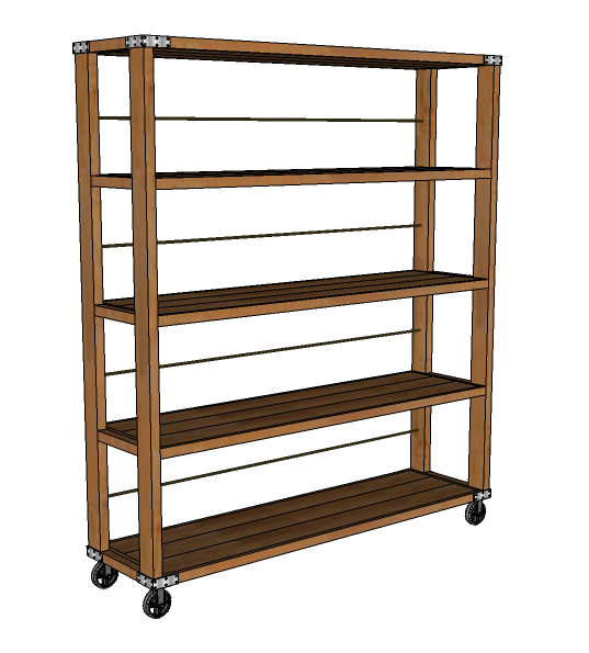 Ana White Build A Rolling Industrial Shelves Free And