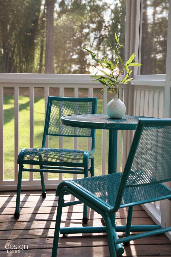 Design Lines Screened Porch Living With Bright Colors Raleigh North Carolina Porch Makeover Cozy House Outdoor Furniture Sets