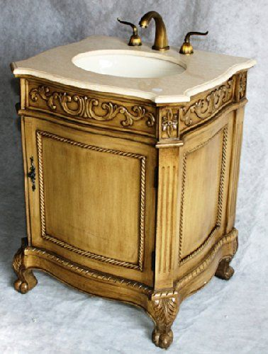 Awesome Websites  Inch Wood Single Sink Bathroom Vanity with Marble Top and Sink with Year