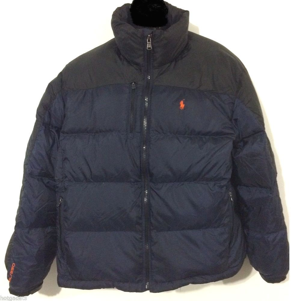 cbdb302ad New POLO RALPH LAUREN Men Navy Black Snow Core Trek Puffer Down Jacket Coat  2XL #PoloRalphLauren #Puffer