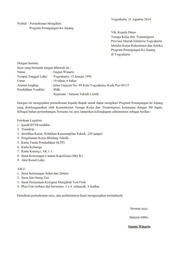 cv dan application letter   Bussines Proposal      Scribd