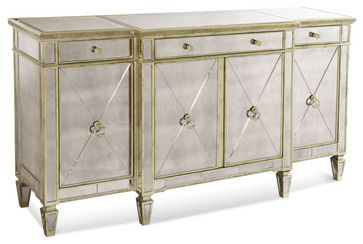 borghese mirrored furniture. Bassett Mirror 8311-576 Borghese Mirrored Buffet/Server - Contemporary Buffets And Sideboards Furniture