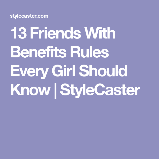 friends with benefits advice