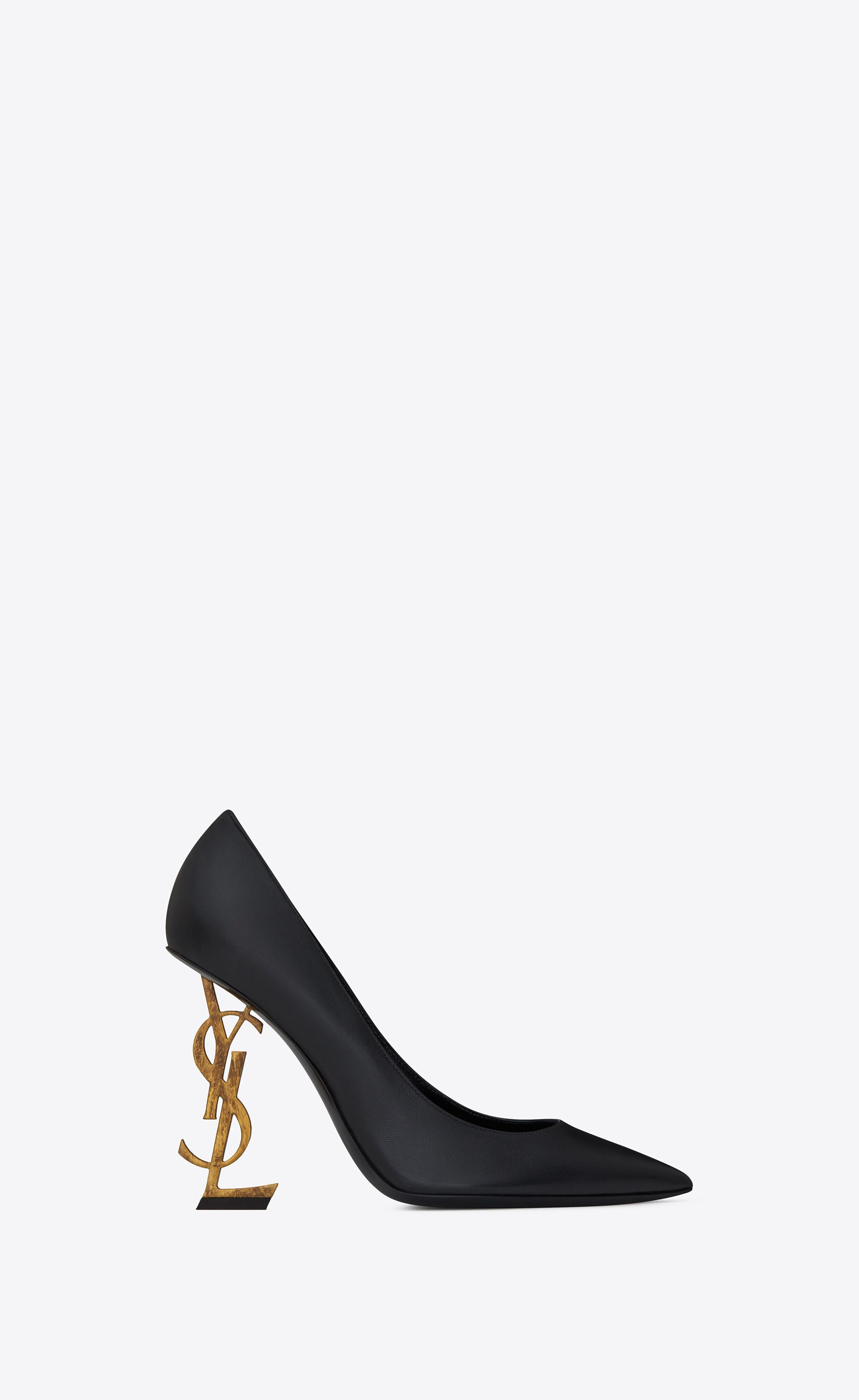 4617f1148d60 Saint Laurent Opyum Pump In Leather With Gold Toned Heel