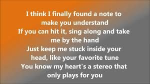 Image result for stereo hearts gym class heroes / adam levine lyrics