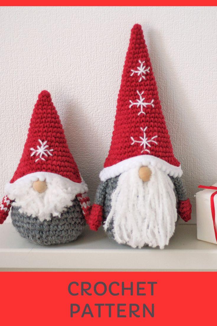 CROCHET PATTERN GNOME Amigurumi toy christmas   Et