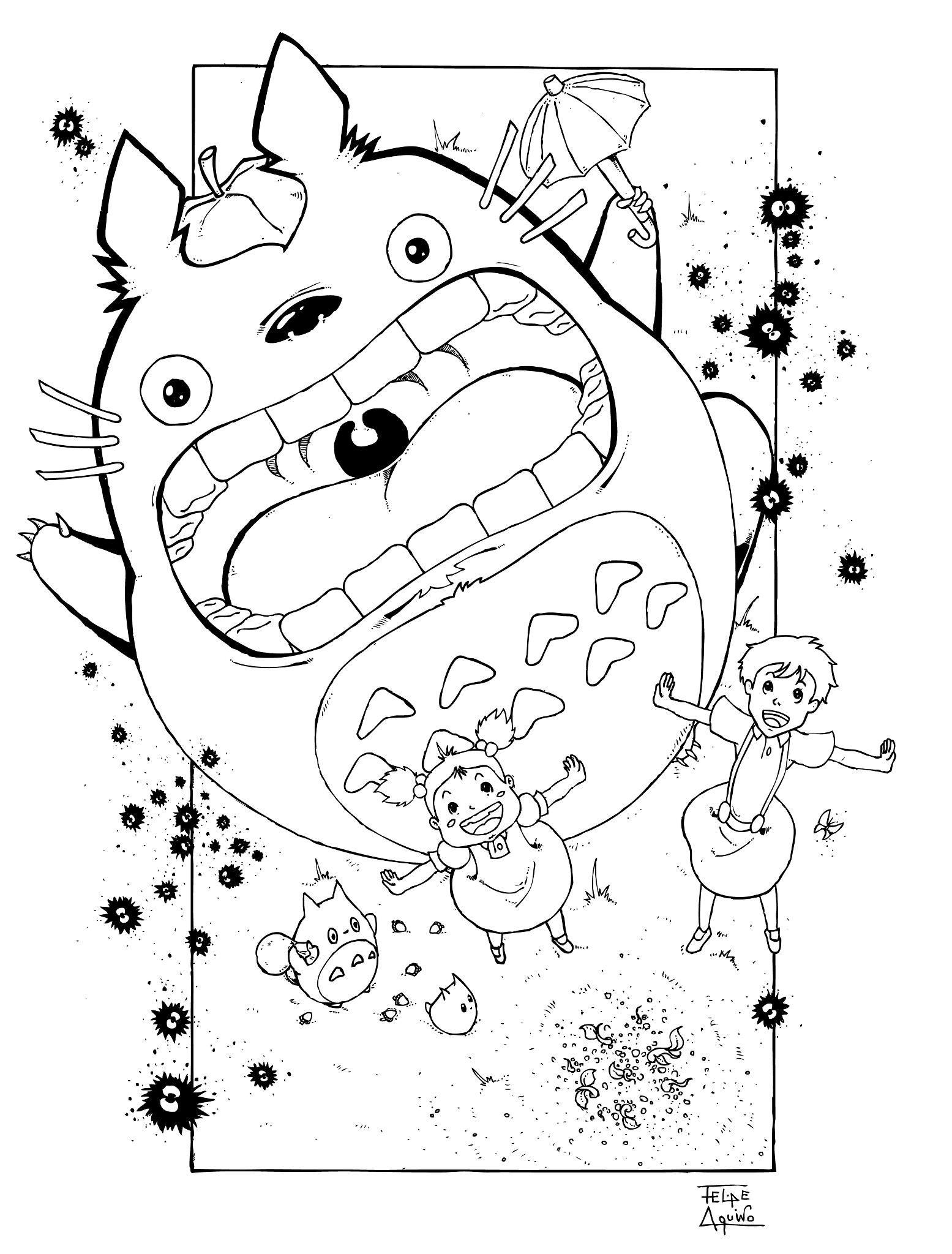 hayao miyazaki coloring pages H ada v Google