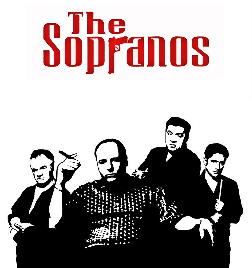 Stencil Art From The Sopranos It Ain T Finished Yet Sopranos Pop Art Pictures Popular Tv Series