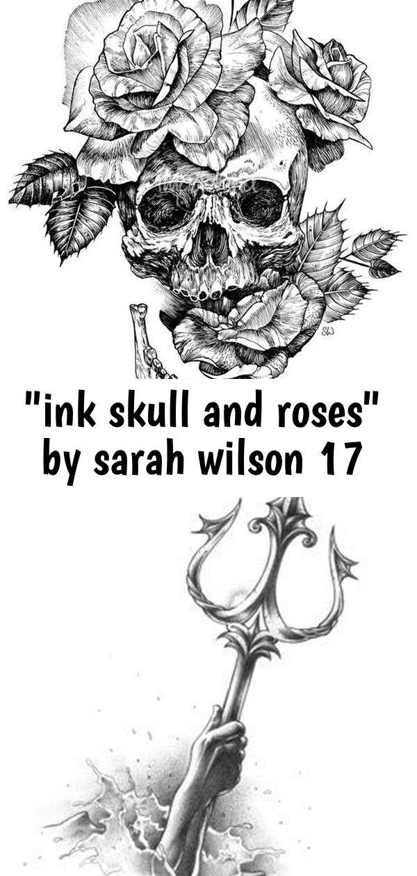 ink skull and roses by sarah wilson 17 ink skull and roses by sarah wilson 17