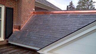 Copper Standing Seam Work Standing Seam Rain Chain Installation Roof Solar Panel