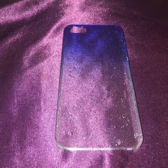iPhone 5/5s case!  Water drop illusion! Like new! Accessories Phone Cases